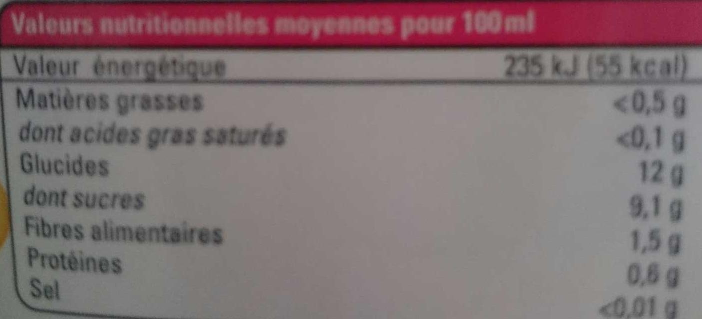Multi Fruits - Voedingswaarden - fr