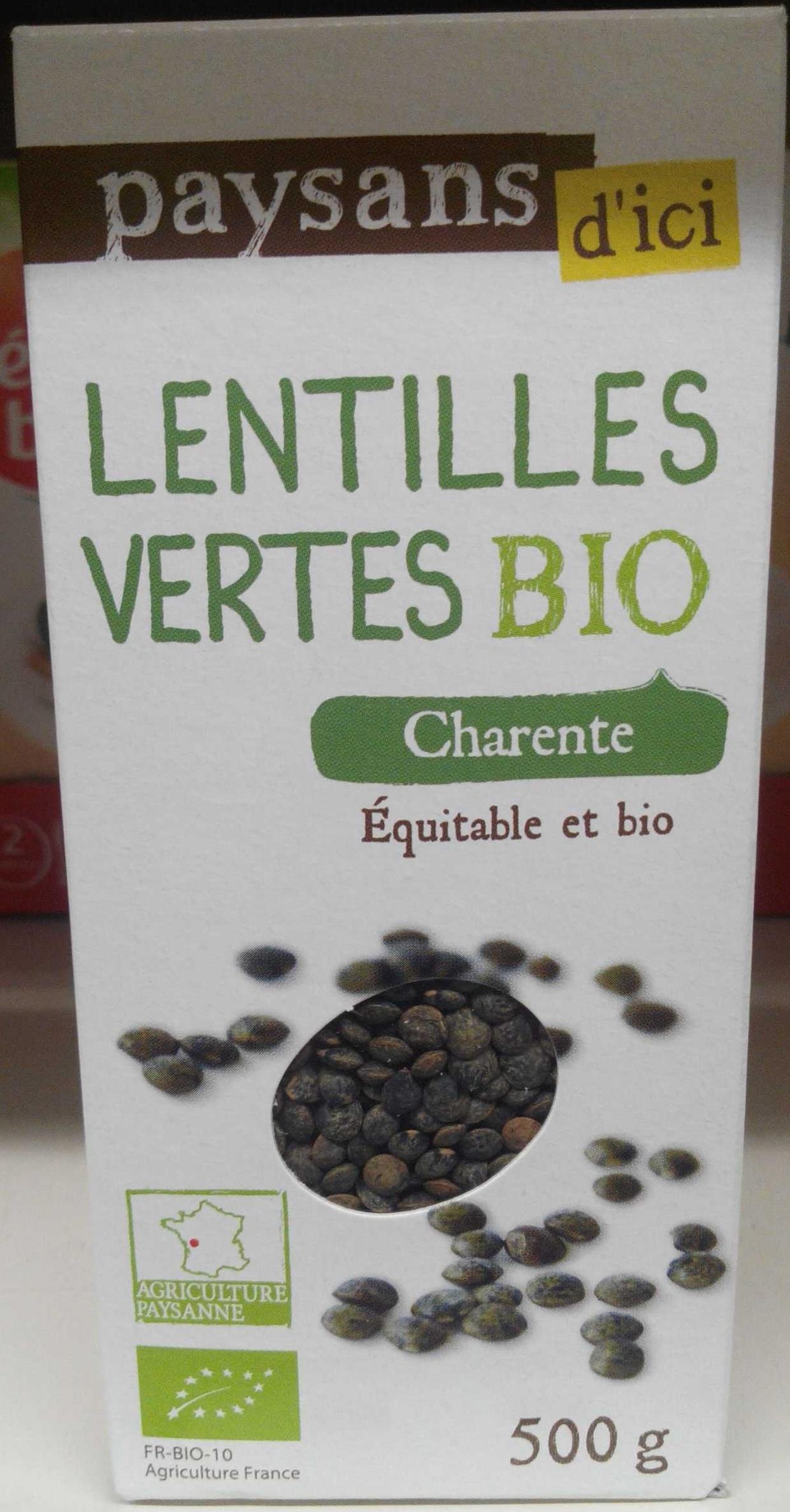Lentilles vertes bio - Produit - fr