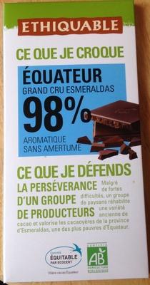 Chocolat noir 98 % Équateur - Product