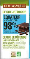Chocolat noir 98 % Équateur - Product - fr