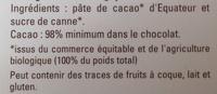 Chocolat noir 98 % Équateur - Ingredients
