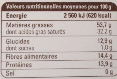 Chocolat noir 98 % Équateur - Nutrition facts