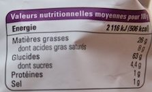 Chips Arracacha Manioc Équitable et Bio - Informations nutritionnelles - fr