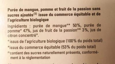 Mangue passion pomme - Ingrédients - fr