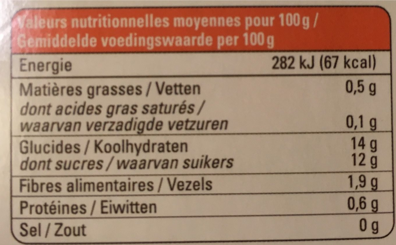 Mangue passion pomme - Informations nutritionnelles - fr