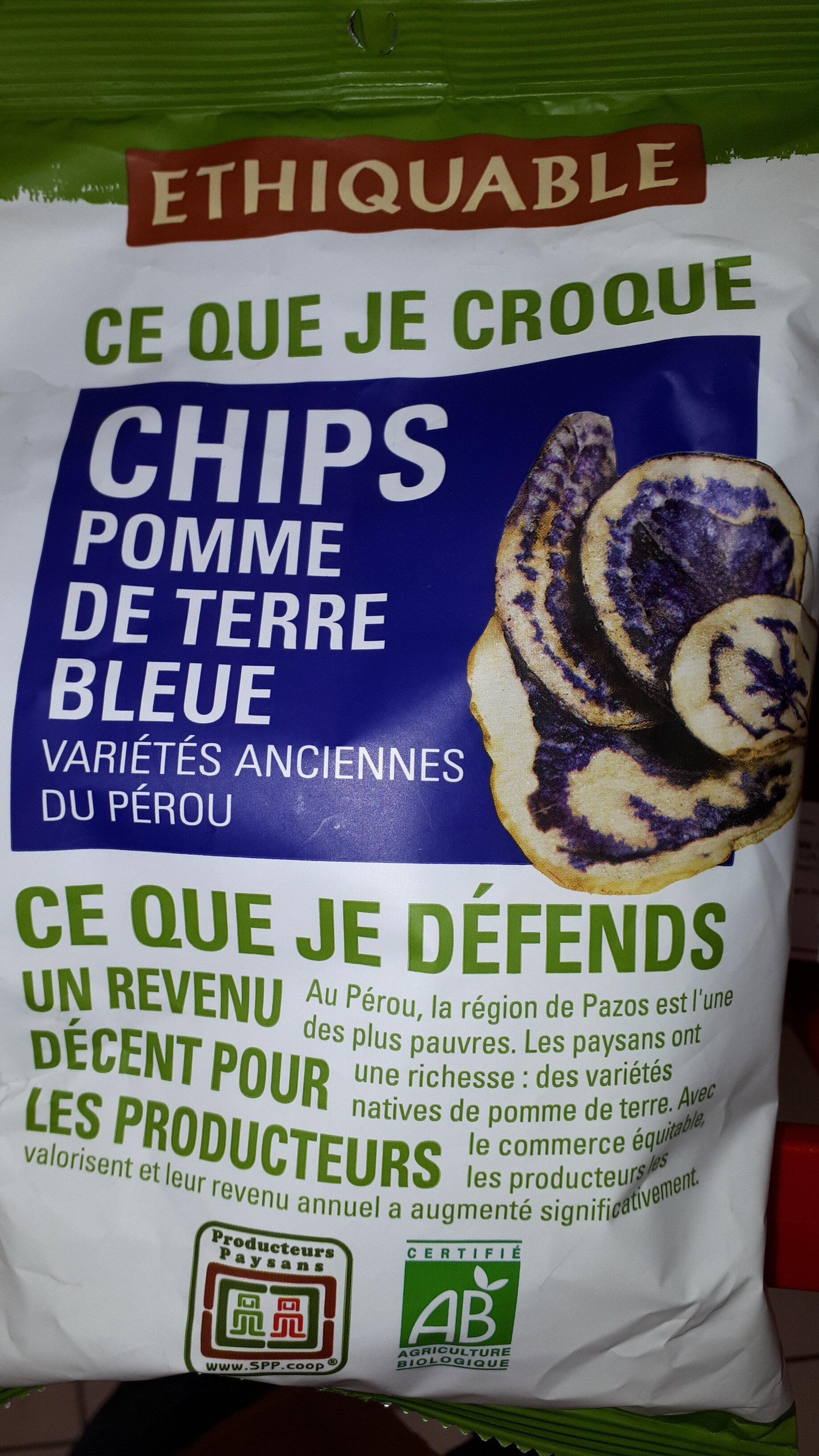 Chips pomme de terre bleue - Product