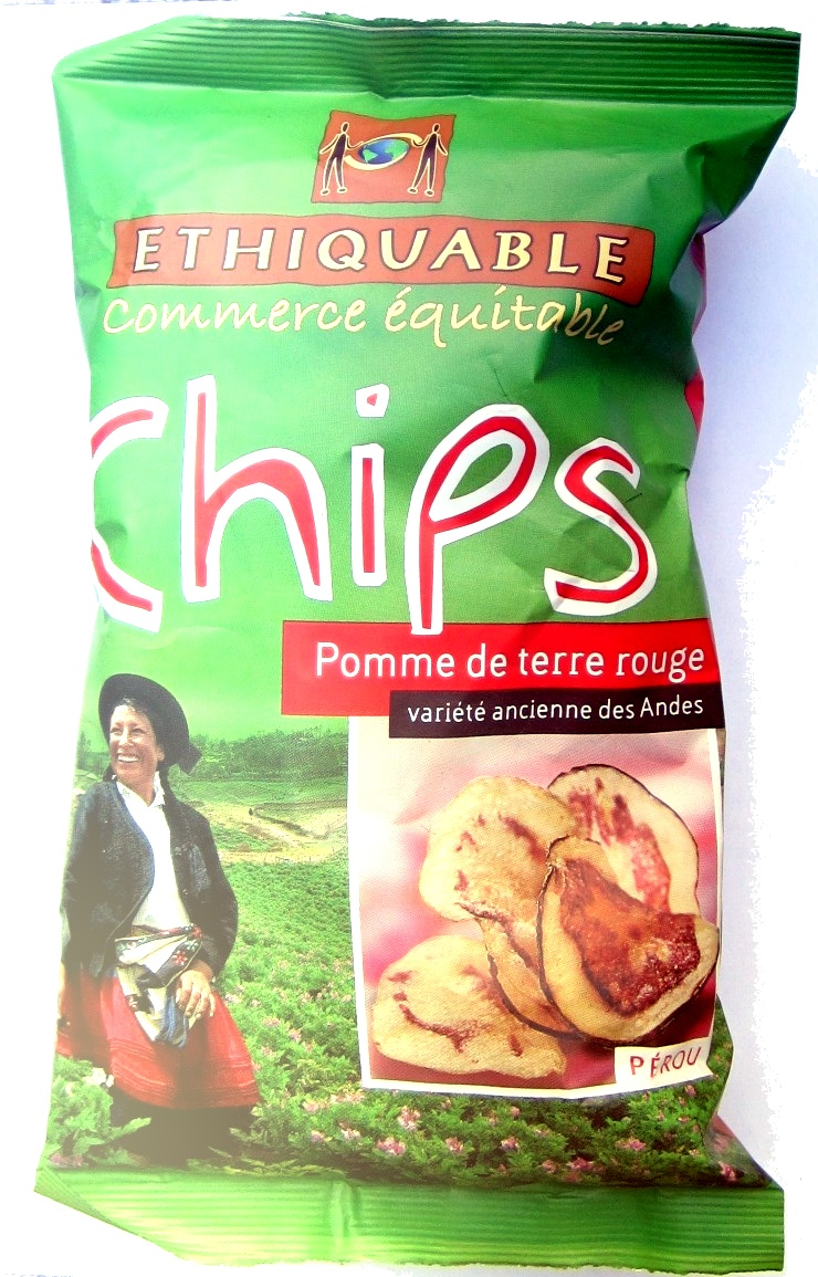chips pomme de terre rouge ethiquable 100 g. Black Bedroom Furniture Sets. Home Design Ideas