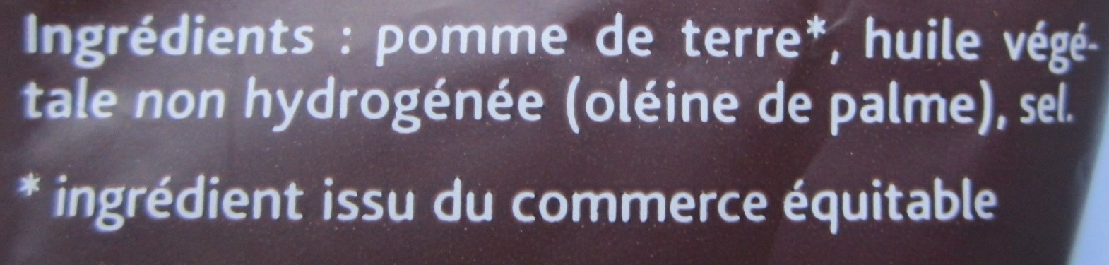 Chips de pomme de terre rouge - Ingrediënten - fr