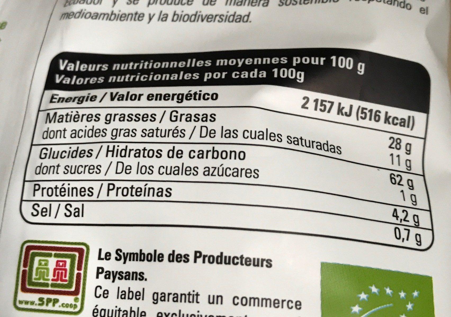 Chips de pomme de terre rouge - Voedingswaarden - fr