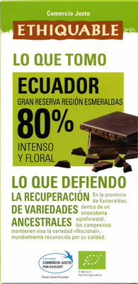 Chocolate Ecuador 80% - Product