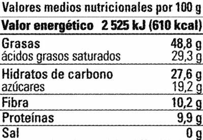 Chocolate Ecuador 80% - Informations nutritionnelles - es