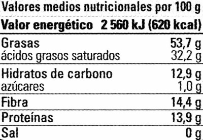 Chocolate negro cacao de ecuador ecológico - Nutrition facts