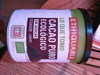 Cacao Puro Ecologico - Product