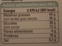 Chocolat Lait Grand Cru Sambirano 50% - Nutrition facts - fr