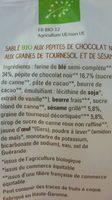 Sablé bio - Ingrediënten - fr