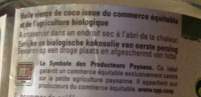 HUILE VIERGE DE COCO - Ingrediënten - fr