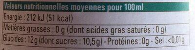 Pur jus bio pomme poire - Valori nutrizionali - fr