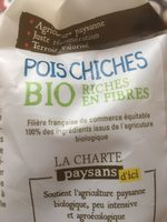 Pois Chiches Bio - Ingredients