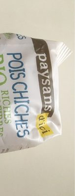 Pois Chiches Bio - Nutrition facts