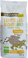 Lentilles blondes bio - Produit - fr