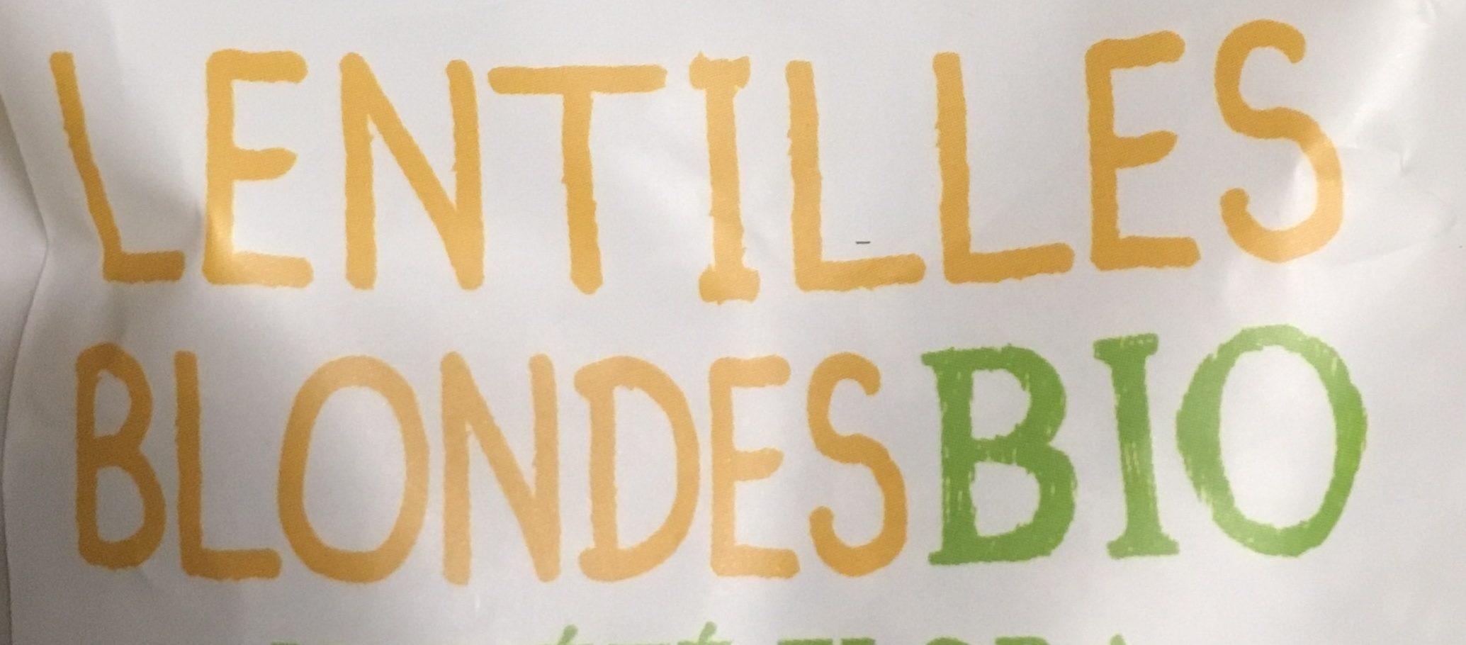 Lentilles blondes bio - Ingrediënten - fr