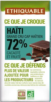 Chocolat noir Haïti 72% - Product - fr