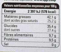 Chocolat noir Haïti 72% - Nutrition facts - fr