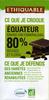 Chocolat noir Équateur 80% grand cru Esmeraldas - Produit