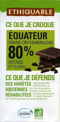 Chocolat noir 80% Equateur - Producto - es