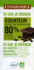 Chocolat équateur 80% - Producte