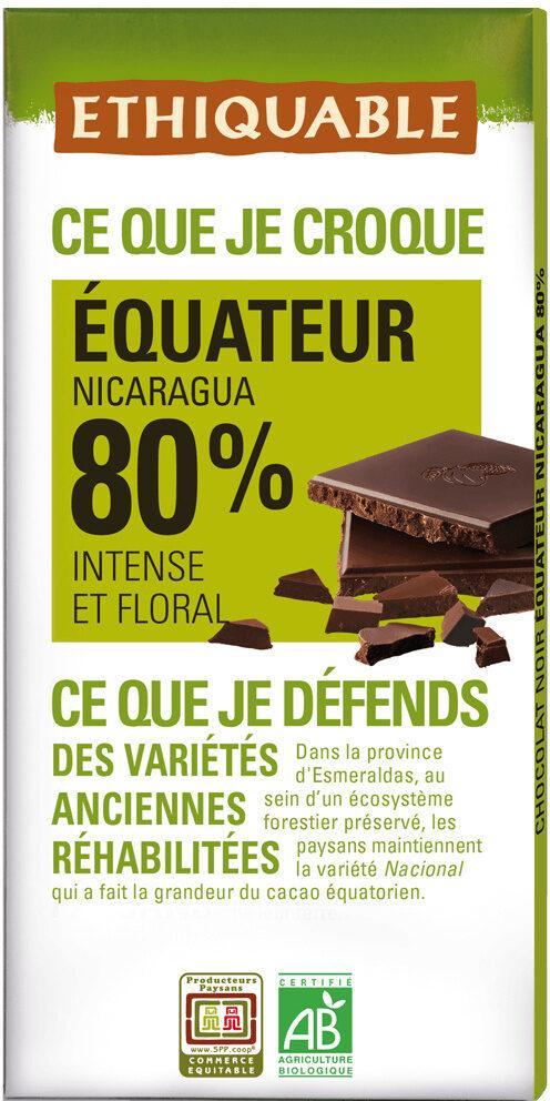 Chocolat noir 80% Equateur - Product - fr