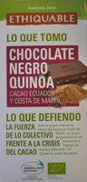 Chocolate negro quinoa - Producto