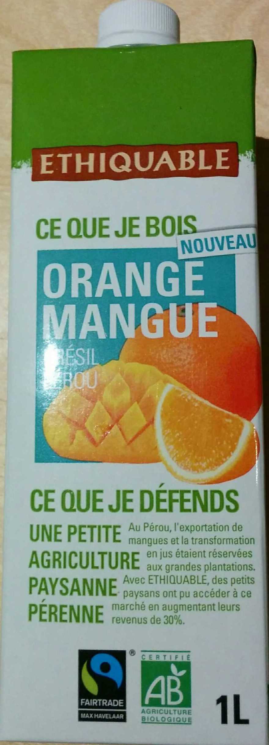 Jus Orange Mangue Bio & équitable - Produit