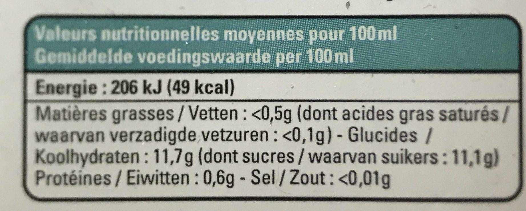 Jus Orange Mangue Bio & équitable - Voedingswaarden - fr