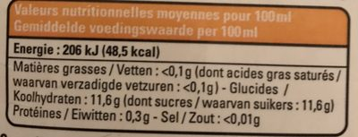 Ananas pur jus Madagascar - Nutrition facts