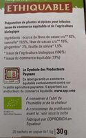 Infusion cacao et cannelle - Informations nutritionnelles - fr