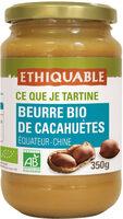 Beurre bio de cacahuètes - Product - fr