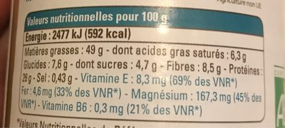 Beurre bio de cacahuètes - Nutrition facts - fr