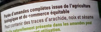Puree D'amande Complete Tunisie - Ingredients