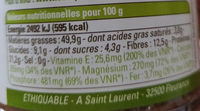 Puree D'amande Complete Tunisie - Nutrition facts