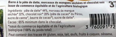 Barre Datte Amande - Ingredients