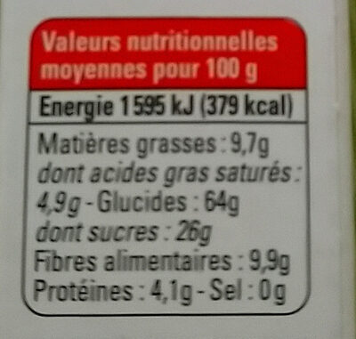 Pâte de datte et fruits séchés - Physalis Grenade - Voedigswaarden
