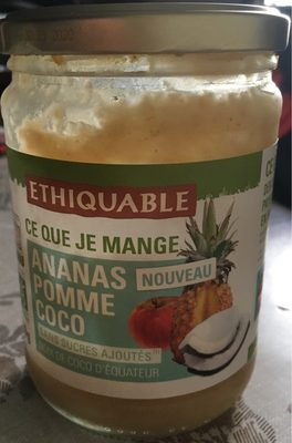 Puree ananas pomme coco - Product