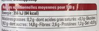 Compote Banane Mangue Passion - Nutrition facts