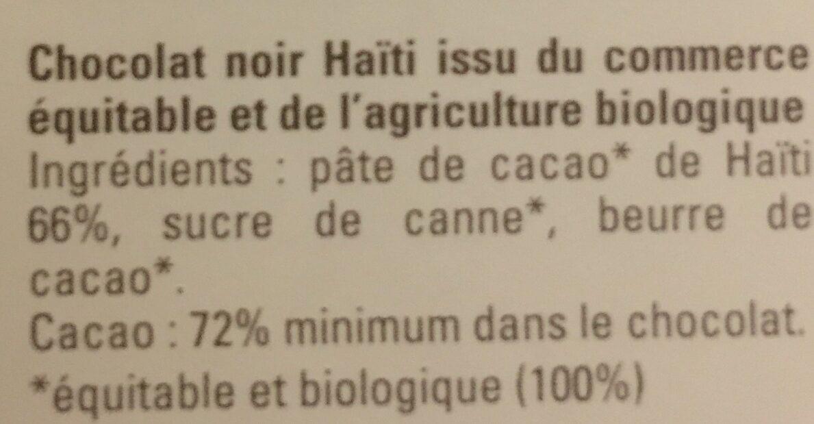 Carrés de dégusation - Ingrédients - fr