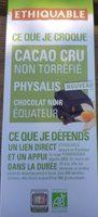 Cacao cru non torréfié physalis - Product