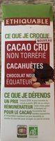 Chocolat noir Cacao cru cacahuètes - Product