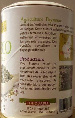 ORIGAN BIO - Ingrédients - fr