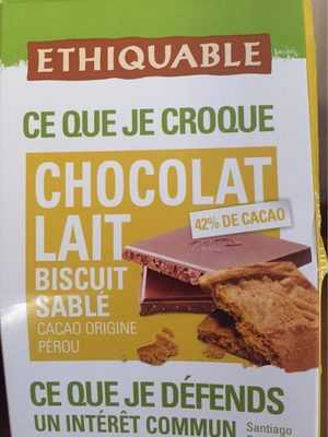 Chocolat lait Biscuit Sablé - Product