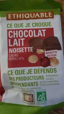 Chocolat lait 42% noisettes entières - Product - fr